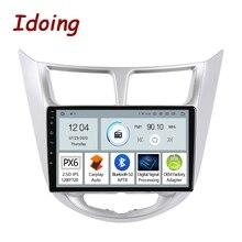 Idoing راديو السيارة Android ، نظام الملاحة GPS ، Carplay ، مشغل الوسائط ، no 2din ، لشركة Solaris 1 2 ، Hyundai أكسنت Verna (2010 2016)