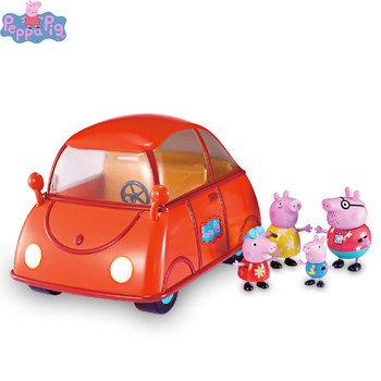 Original Peppa Pig Toy Set Peggy Bus School Bus Light Car Home House Light Music Room Study Desk Aircraft Boy Girl Birthday Gift peppa pig the wheels on the bus board book