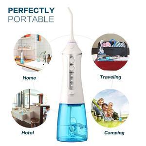 Image 5 - 3 tryby irygator do jamy ustnej na akumulator przenośny irygator do zębów wodoodporny środek do czyszczenia zębów Floss Tooth 2 Jet Tips 300ml