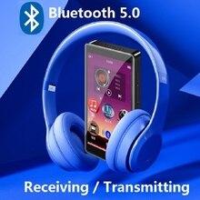 Yeni RUIZU H1 4.0 inç tam dokunmatik ekran MP3 çalar Bluetooth ile 8GB müzik çalar dahili hoparlör desteği FM radyo kayıt
