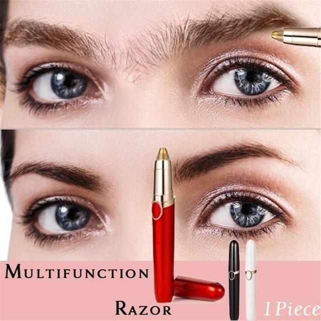 1PC Electric Eyebrow Trimmer Pen Shape Face Eyebrow Hair Remover Mini Eyebrow Shaver Razor Instant Painless Portable Epilator 3