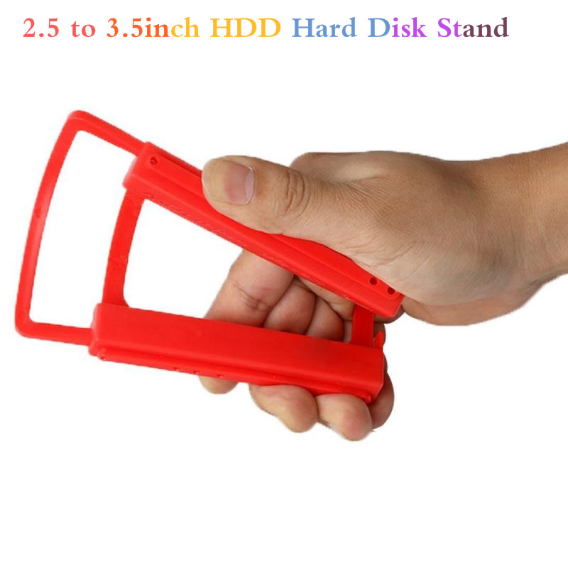 2.5 To 3.5inch HDD Hard Disk Stand Mounting Bracket Adapter Dock Holder Plastics Red For Notebook PC SSD Holder TSLM1