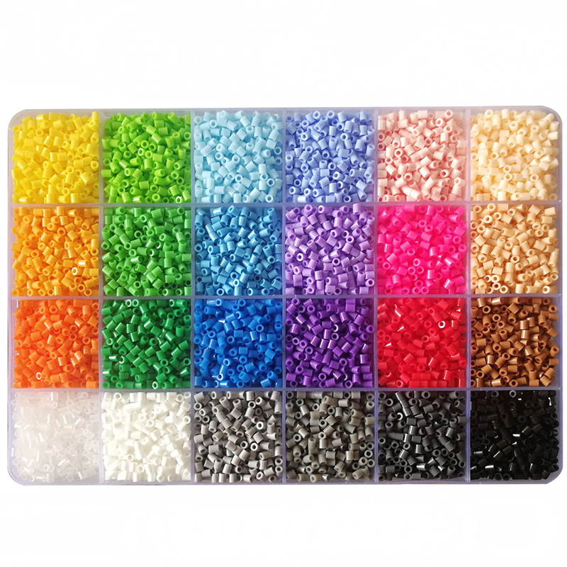 24 Colors 2.6mm Hama Beads 15600pcs/Box Mini Fuse Perler Beads Set Puzzles Toy  Learning Toys For Children  Creative Toys