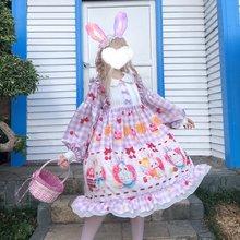 Платье Лолиты для девочек женская одежда принцессы kawaii милые