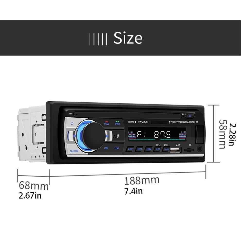 2020 yeni araba USB şarj araba radyo 12V ses 1Din stereo çalar telefonu kablosuz/AUX-IN/MP3/TF /uzaktan kumanda