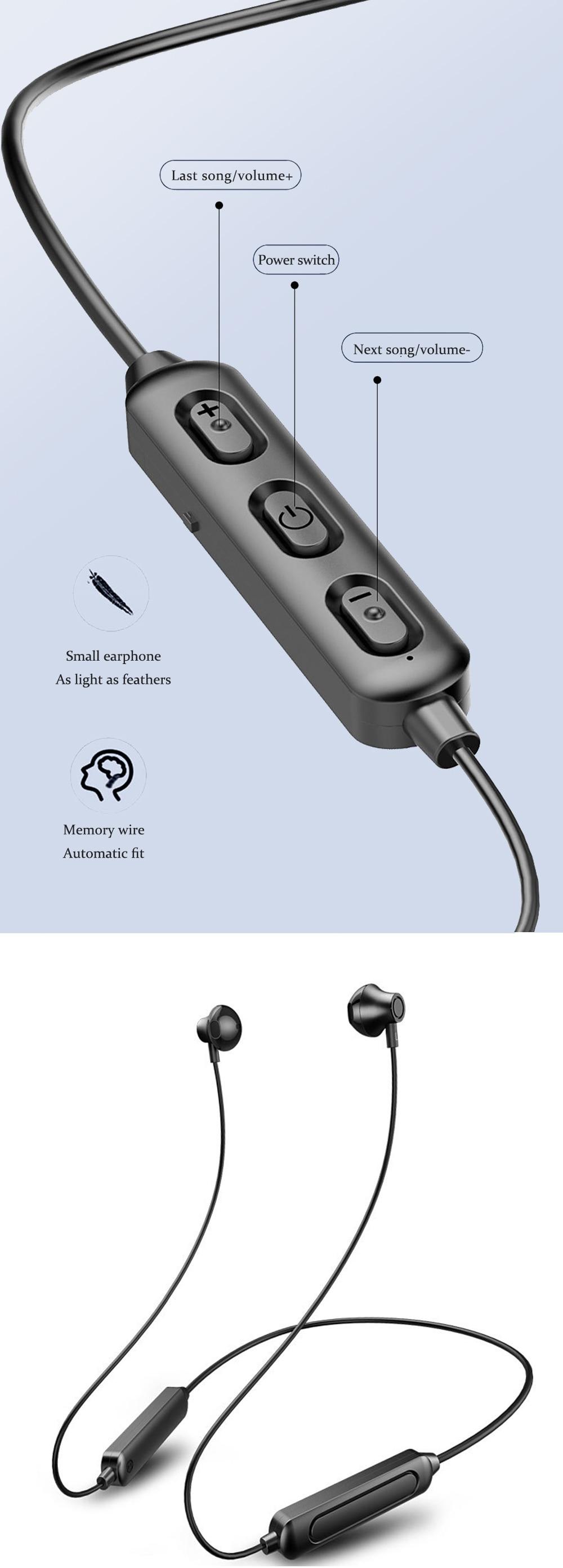 bluetooth 5.0 in-ear fone de ouvido para correr