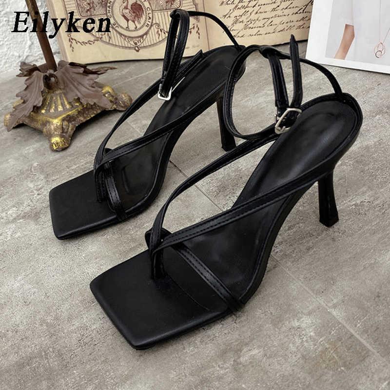 Sandali gladiatore Eilyken scarpe con tacchi alti autunno best Street Look donne testa quadrata punta aperta sandali con cinturino a Clip donna