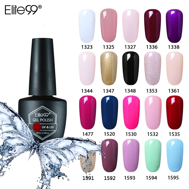 Elite99 10ml UV Gel Nagellack Soak Off Primer Gel Polish Top Basis Mantel Benötigt Gel Lack Semi Permanent nail art Maniküre Gel