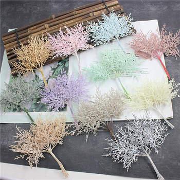 10 unidades de plantas artificiales, baratas de Navidad, jarras para decoración del hogar, Accesorios nupciales de la boda
