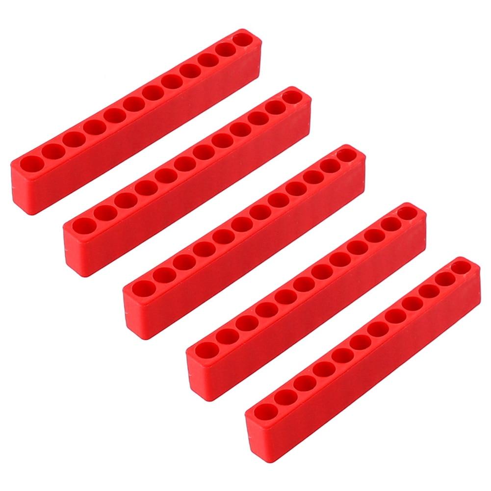 5Pcs Accessories Plastic Space Saving Screw Bits Hex Shank Tool Box Case Screwdriver Storage Deck Practical Durable Organizer