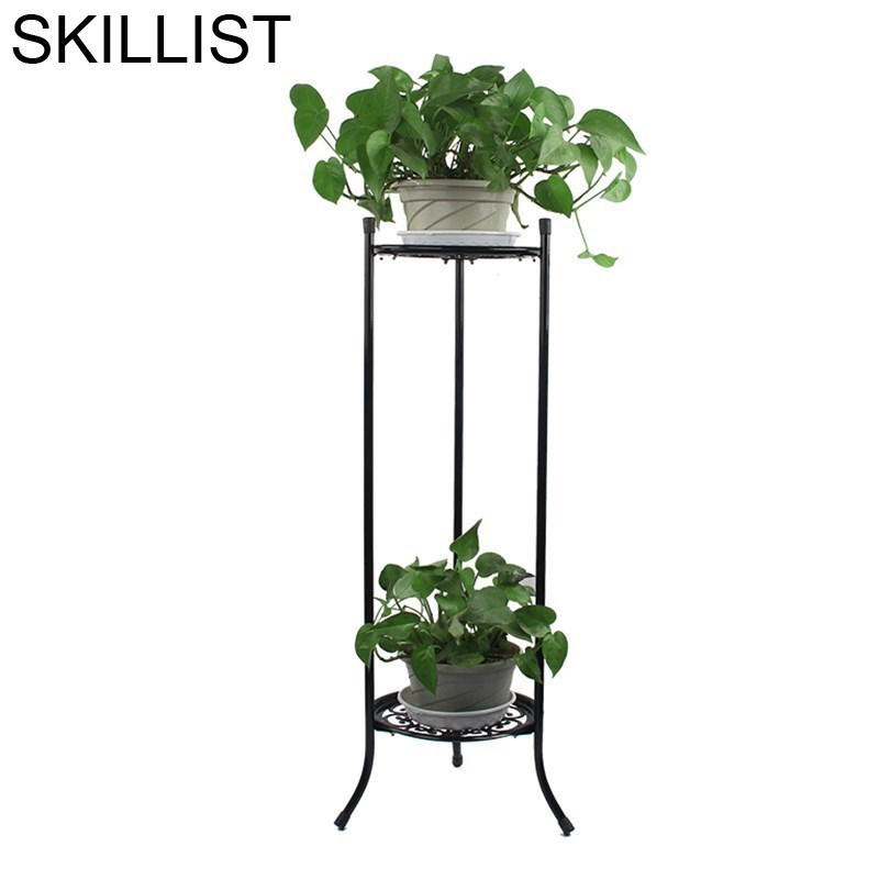 Exterior Iron Metal Raflar Terrasse Decoration Varanda Planten Rek Outdoor Decor Balcon Flower Balkon Balcony Plant Shelf