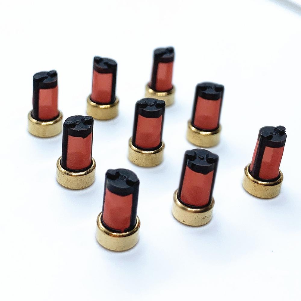 100 個燃料噴射装置バスケット microfilter ASNU003 良い品質サービスキット (10.7*6*3 ミリメートル、 AY-F102B)