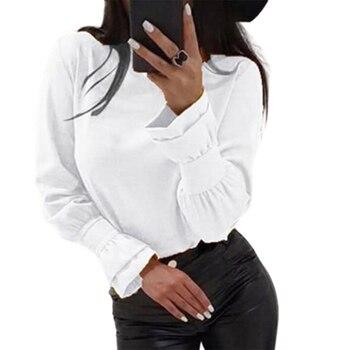 цена на 2020 New Round Neck Cute Sweatshirt Ruffle Long Sleeve Women Plain Personalised Pullower Hoodies Spliced Sexy Slim Fit Hoodie