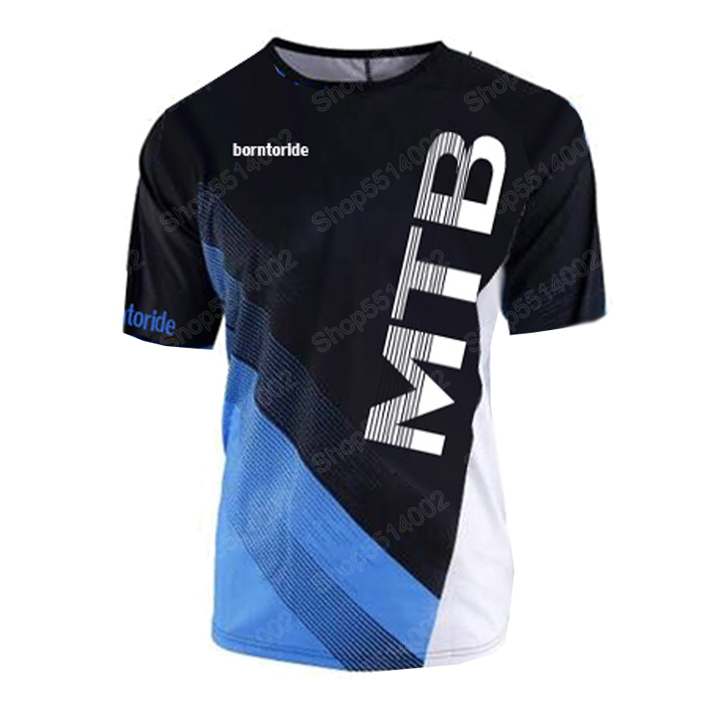 2019 New Quick Dry Short Sleeve Downhill Jersey Motocross Cycling Jerseys Moto GP Mountain Bike T-Shirt BMX DH Cycling Clothes