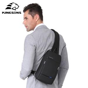 Image 2 - Kingsons 2019 New 3174 A  Leisure Travel Single Shoulder Backpack 10.1 inch Chest Backpack For Men Women Casual Crossbody Bag