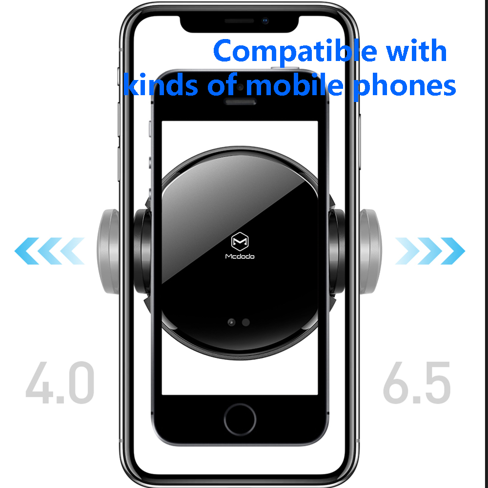 Image 5 - MCDODO 10W Qi Car Wireless Charger Air Vent Mount Holder Stand Automatic Infrared Clip Fast Charging For iPhone XS Samsung Phone-in Phone Holders & Stands from Cellphones & Telecommunications