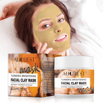Auquest Turmeric Clay Mask Deep Cleansing Acne Exfoliating Facial Mask Moisturizing Whitening Face Cosmetics Beauty Skin Care 1
