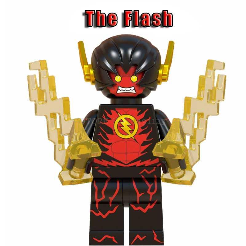 فلاش مجموعة DC الفيلم أرقام أسود عكس فلاش مهرج باتمان ميرا آرثر اللبنات الطوب اللعب الأعجوبة المنتقمون الهيكل لعبة