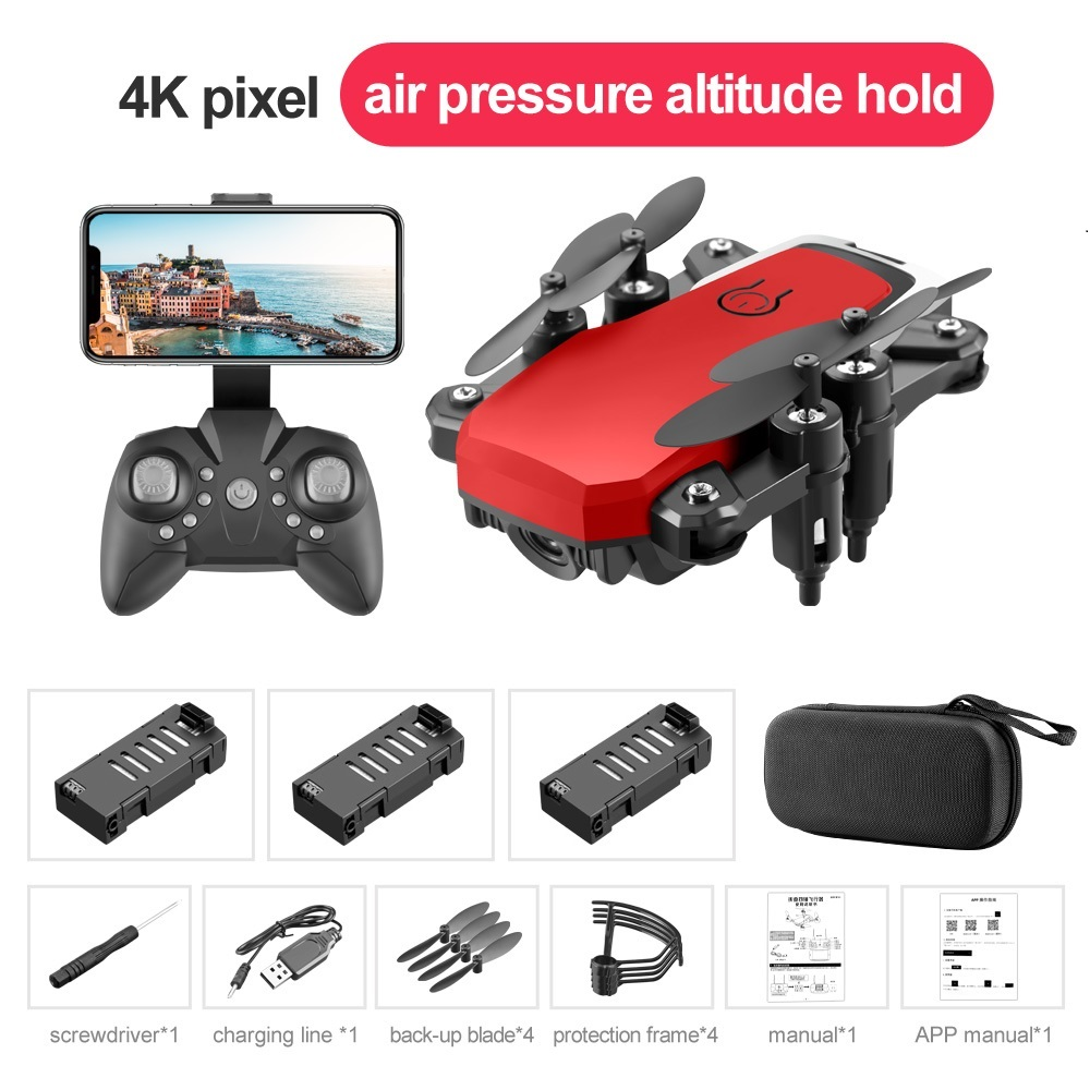 LF606 MINI RC Drone Wifi FPV Foldable With 4K HD Camera Follow Altitude Hold 3D Flips Headless RC Helicopter Aircraft Kid's Gift