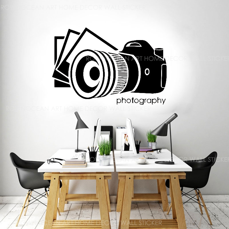 Photography Camera Photo Studio Sign Wall Sticker Vinyl Art Interior Design Mural Wall Decals Window Decoration Wallpaper 2083 Wall Stickers Aliexpress