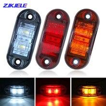 Side-Marker-Lights Alarm-Lamp Signal Waterproof LED for Trailer-Trucks Caravan Amber