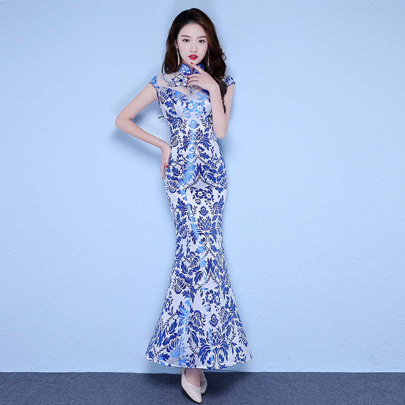 Bridesmaid Dresses Long Long Qipao Dress Show Thin Full-skirted In The Spring Of New Version Of Its 2020 Midi Chinese Style