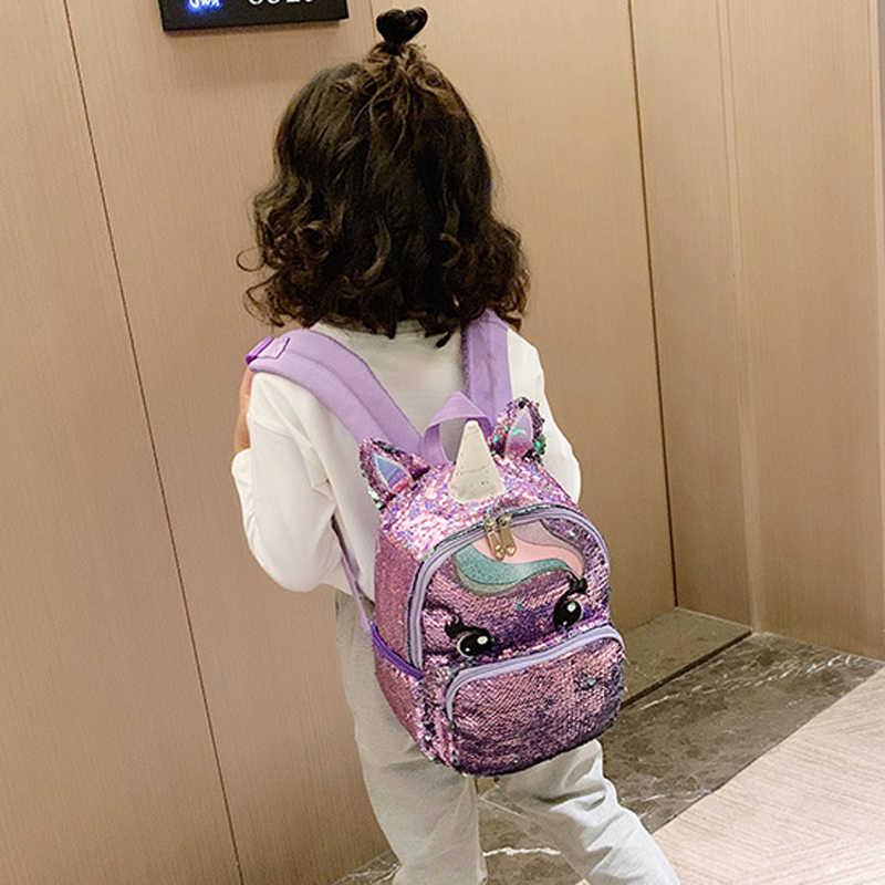 Einhorn Pailletten Schul Multi Farbe Kinder Schule Taschen für Mädchen Rucksack Mochila Escolar Buch Schule Tasche für Teenager Student