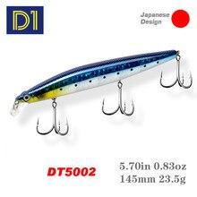 D1 minnow isca de pesca 145mm 23.5g duro de suspensão artificial jerkbait wobblers para baixo pique pesca equipamento dt5002