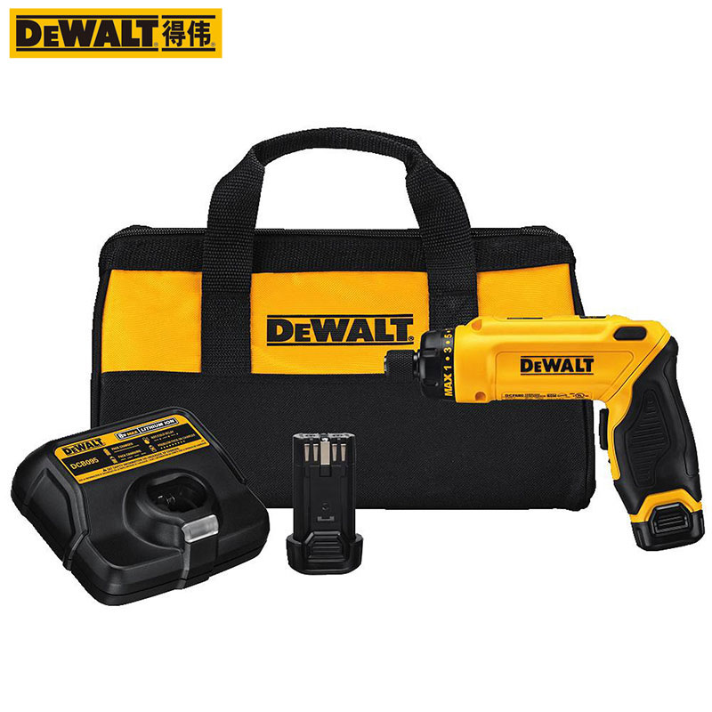 DEWALT 7 2V MAX Cordless Screwdriver Kit DCF680G2 Electric Screwdriver With One Battery