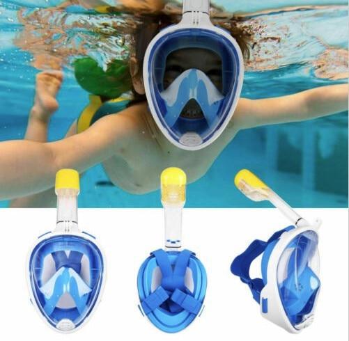 Two Size Professional Children Snorkel Diving Mask For Kids Swimming Training Full Face Mask Scuba Equipment Mergulho