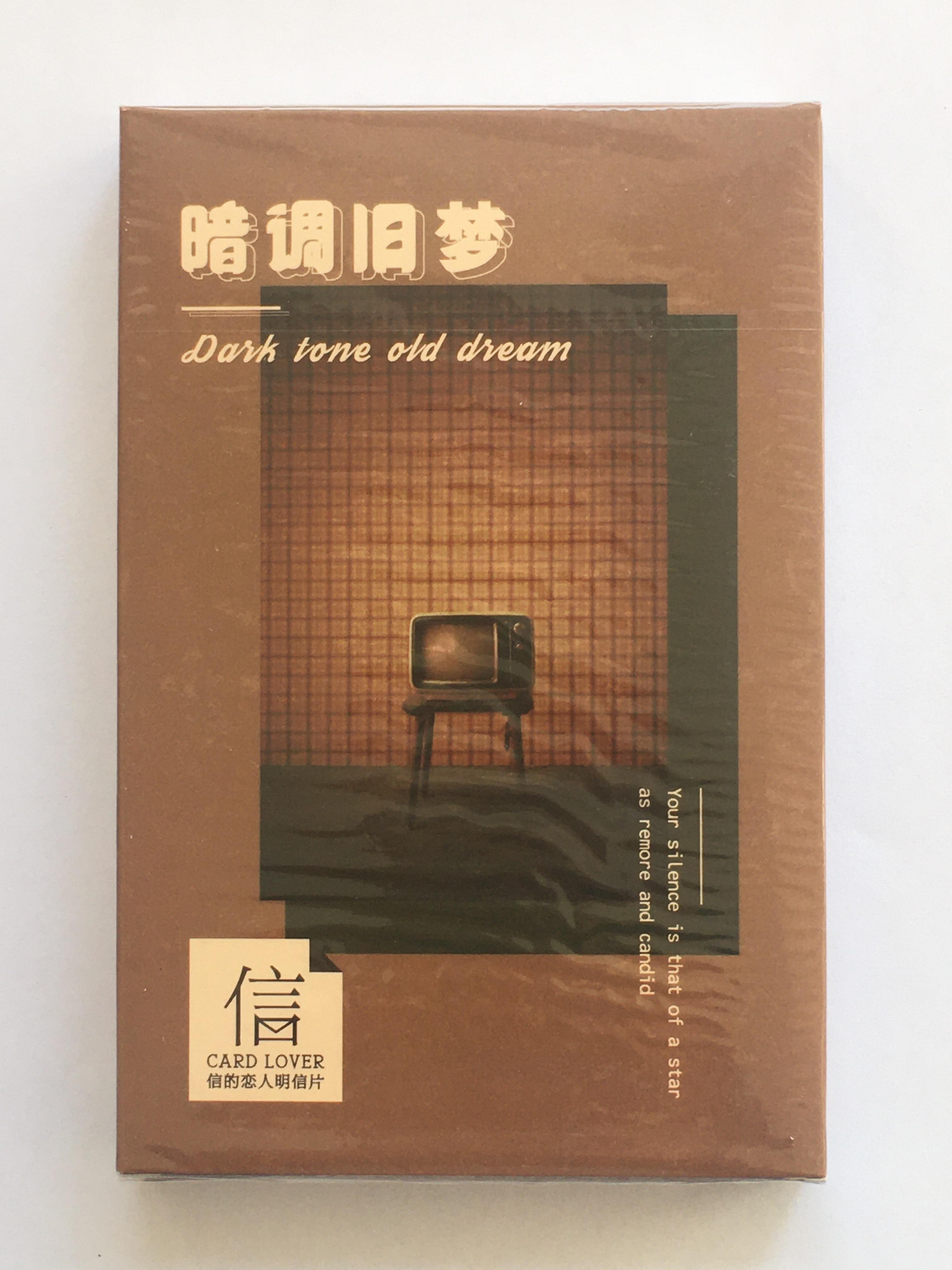 P140- Dark Dream Paper Postcard(1pack=30pieces)