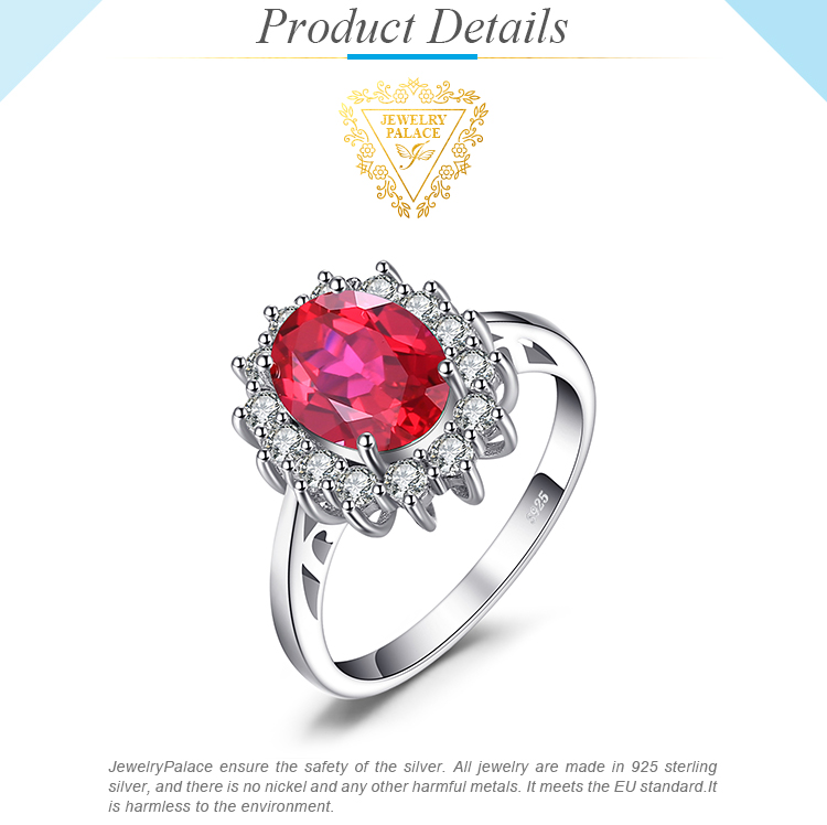 Hcc731059486a4231a55cc7a43fb415f0u JewPalace Princess Diana Created Red Ruby Ring 925 Sterling Silver Rings for Women Engagement Ring Silver 925 Gemstones Jewelry
