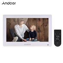 Andoer 13,3 дюймовая цифровая фоторамка ips полноэкранный цифровой фотоальбом с высоким разрешением Поддержка HD видео AV входные часы