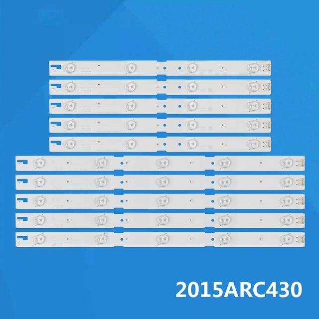 New 10PCS LED Backlight Strip For SAM SUNG ZLE60600 AB 43GFB6627 2015ARC430_3228_R04 L05_REV1.0_150716 LM41 00174A LM41 00173A