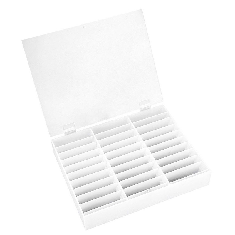 Nail Manicure Storage Box 33 Grids Portable Adjustable Container Acrylic Organizer Nail Tools