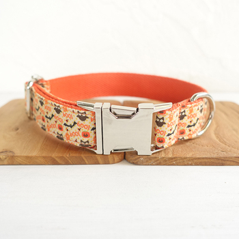 Hot Pretty Cute dog collars and leashes set 5 sizes Handmade soft pet accessory retailing THE HALLOWEN UDC059 image