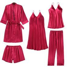 Сексуальное Кружевное ночное белье 5 шт Пижамный костюм домашняя