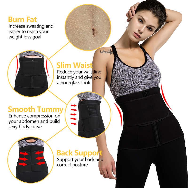 9 뼈 허리 트레이너 코르셋 네오프렌 사우나 땀 벨트 슬리밍 셰이퍼 Fajas 콜롬비아 모델링 스트랩 체중 감소 Shapewear