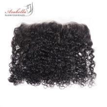 곱슬 머리 레이스 정면 머리 13*4 레미 인간의 머리카락 확장 Arabella 사전 뽑아 표백 매듭 레이스 정면 폐쇄 곱슬