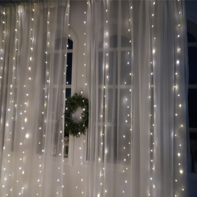 Christmas curtain LED string Fairy light New Year garland icicle 6*2M 220V led string For Xmas Wedding party Decoration Lighting