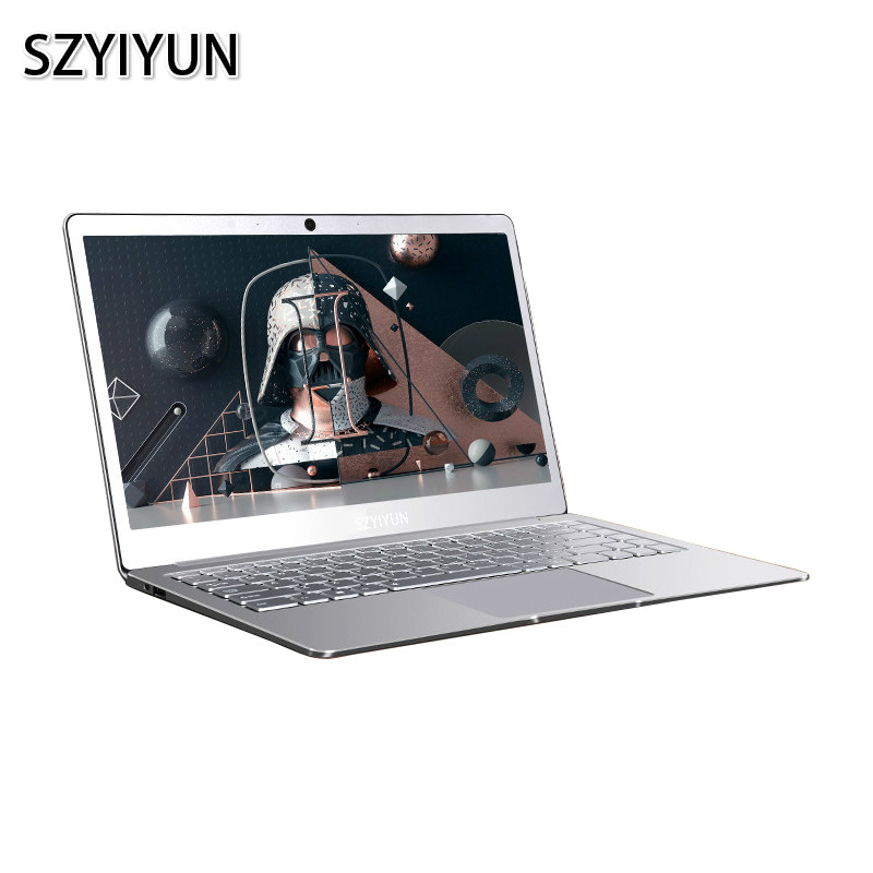 Silver 14 Inch Intel Laptop J3355 J3455 J4105 8G RAM 128G 256G 512G 1024G SSD Notebook Computer Laser Backlit Keyboard Laptop