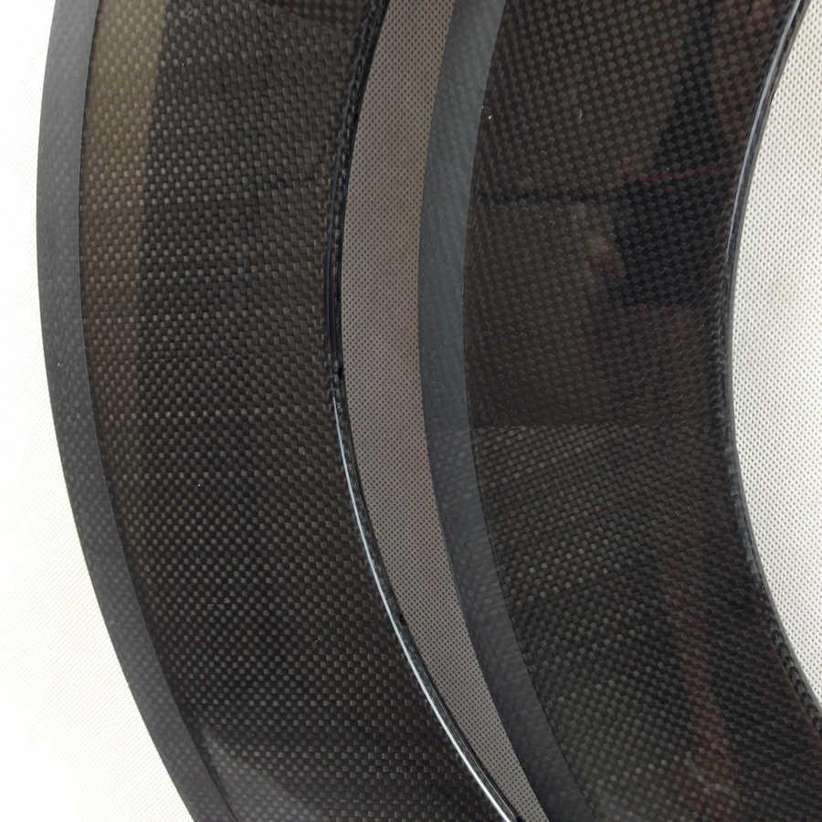 Jante carbone vélo de route 20mm de large 38mm 50mm 60mm 80mm de profondeur UD 3k externe 16h 20h 24h 21h V usine de frein 700c jantes