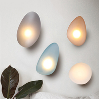 Modern Egg Tpye Sconce Wall Lamp For Living Room Noridc Glass LED Wall Light Bedroom Decoration Home Indoor Light FIxture