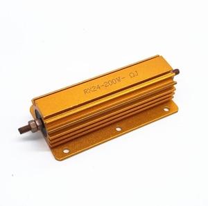 RX24 200W Alumínio Shell Power Metal Caso Wirewound Resistor 0.01 ~ 100K valor integral 2 4 6 8 10 20 100 150 200 300 500 K 10 1K ohm