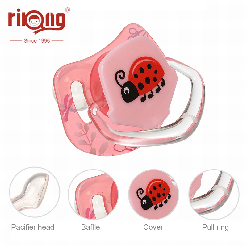 Rikang Baby Pacifier Gel Pacifier Newborn Nipple Food Grade Silicone Round Head Infant Newborn Soother Safe Baby Supplies