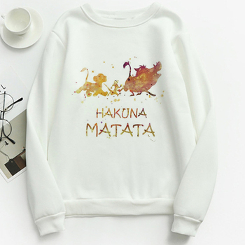 Disney Lion King Simba Hoodies Hakuna Matata Harajuku Hoodie Women Beautiful Printed Sweatshirts Spring Jogging Tracksuits