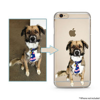 Hand Drawn Custom Illustrated Dog and Cat for iPhone 11 11Pro XS Max XR 8Plus Case Image Illustration Pet Gift Tpu Soft Case