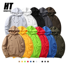 Men's Hoodies High Quality Brand 2020 Autumn Winter Hip Hop Streetwear Pullover Men Solid Color Simple Sweatshirts Male Hooded