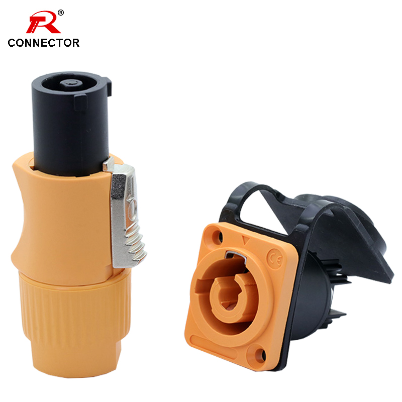 1set Waterproof Power Connector 20a 250V 3 Pins, NAC3FCA&NAC3MPA-1, Power Male Plug + Power Female Chassis Socket Connector