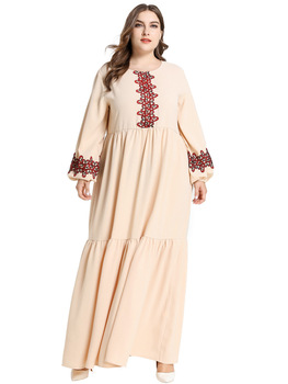 Muslim Dress Longuette Kaftan Abaya Robe Dubai Islamic Clothing